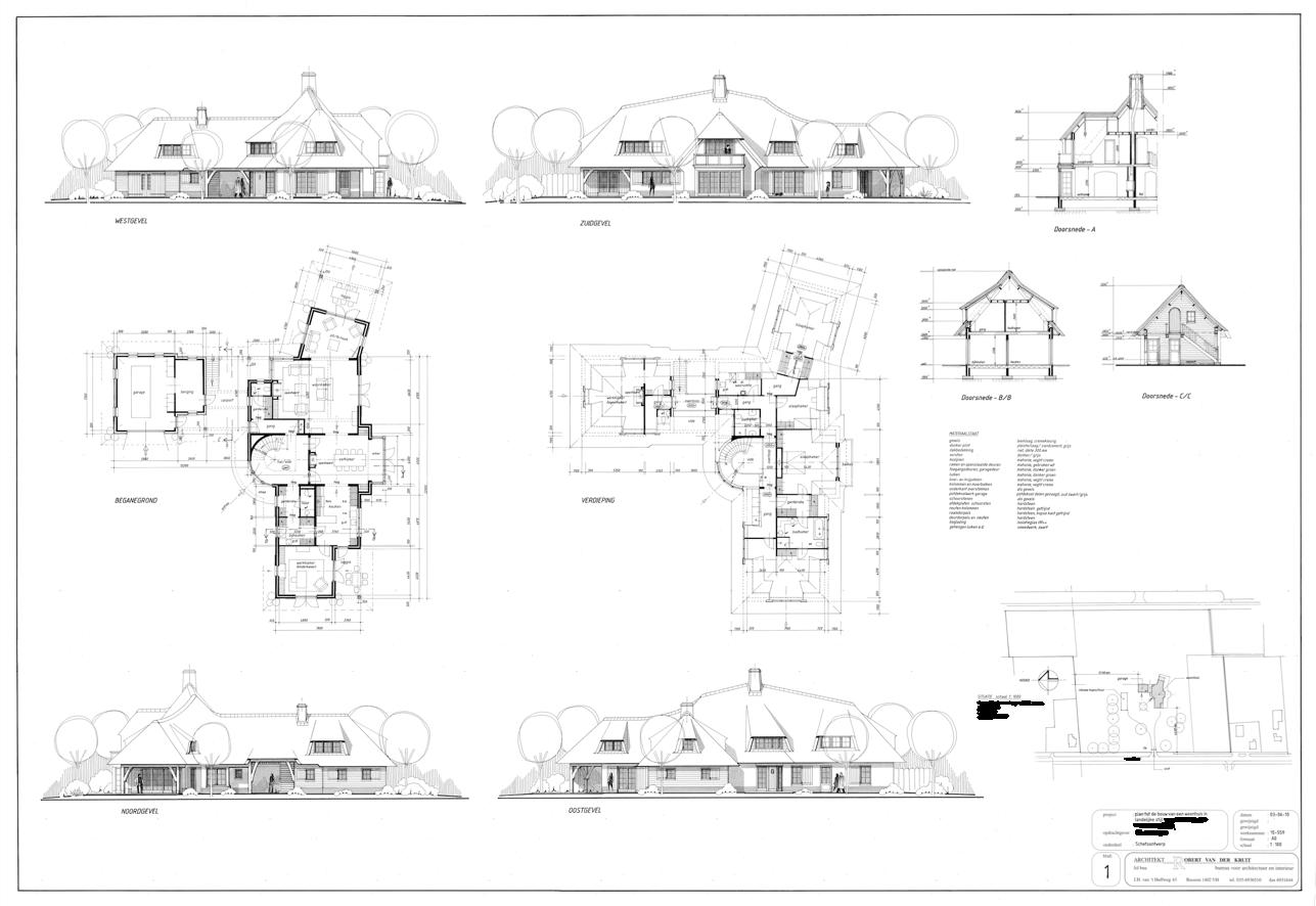 bouwtekening villa